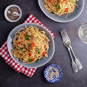 Esparguete Italiano com Pimenta