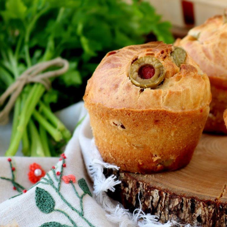 Muffins de Presunto com Azeitonas Recheadas