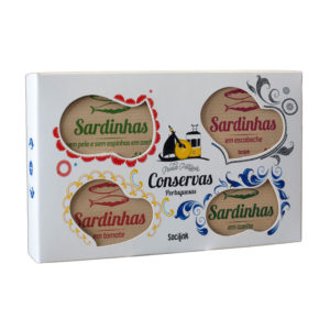 bySocilink Nº03 Canned Fish Set Sardines 4x125g