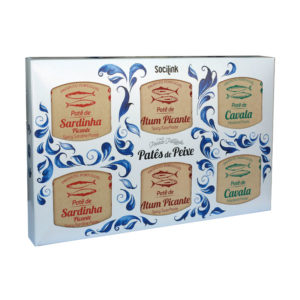 bySocilink Nº11 Canned Fish Set Sardine Tuna and Mackerel Spicy Patés 6x65g