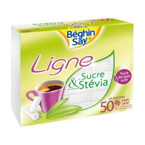 Béghin Say Ligne White Sugar Cubes With Stevia 250g