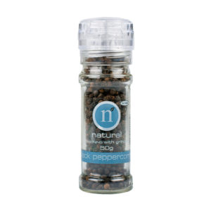 Natural Natural Whole Black Pepper Small Grinder 50g