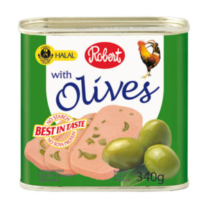 Robert Halal Chicken Lancheon Meat with Olives 340g
