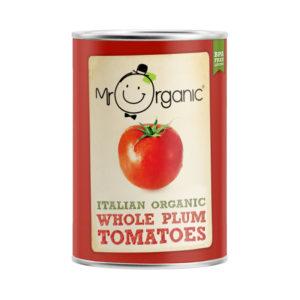 Mr Organic Whole Peeled Tomato  400g