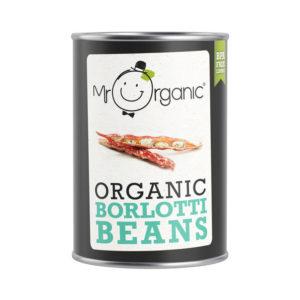Mr Organic Borlotti Beans 400g