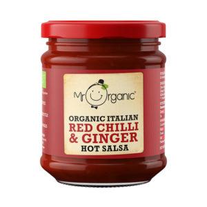Mr Organic Hot Chilli and Ginger Salsa 200g
