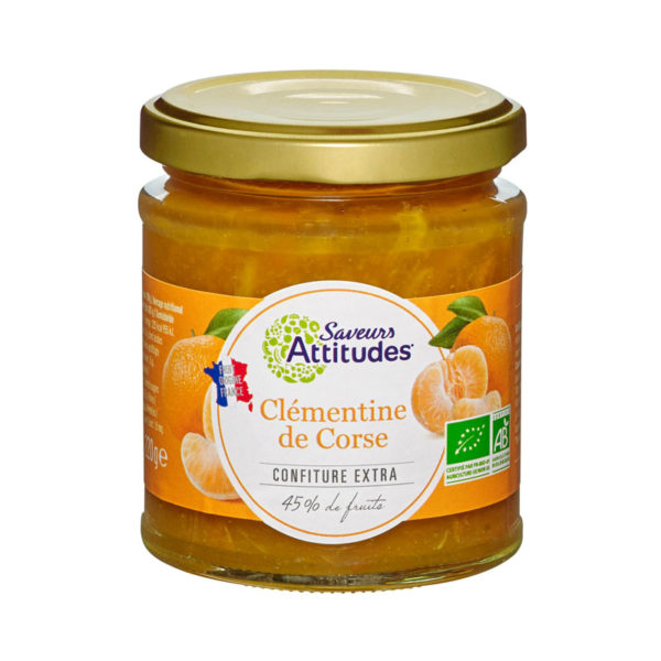 Saveurs Attitudes Organic Corsian Clementine Jam 220g