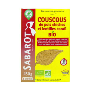 Sabarot Organic Red Lentils and Chick Peas Couscous 450g