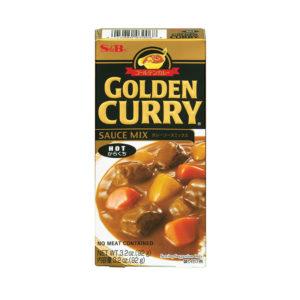 Cubos de Caril Golden Curry Hot S&B  92g
