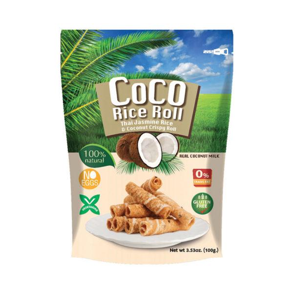Rolo Crocante de Coco e Arroz ThaiHa 100g