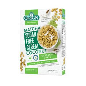 Cereais com Matcha e Coco sem Açúcar Orgran 200g