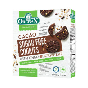 Orgran Sugar Free Cacao Cookies 130g