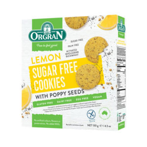 Orgran Lemon Sugar Free cookies with Poppy Seeds 130g