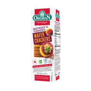 Orgran Beetroot and Turmeric Wafer Crackers 100g