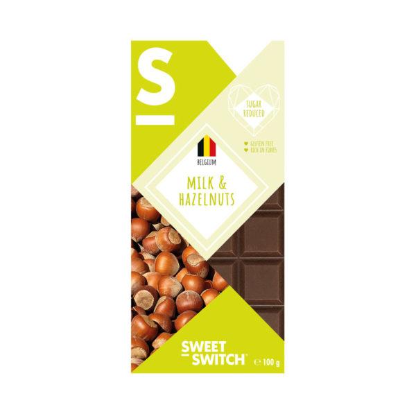 Chocolate de Leite com Avelã Low Sugar Sweet Switch 100g