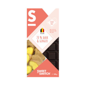 Sweet Switch 70 % Dark Chocolate with Ginger 100g
