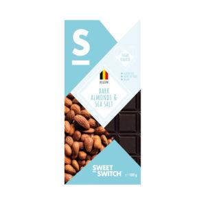Chocolate Preto 53% com Amêndoa e Sal Marinho Low Sugar Sweet Switch 100g