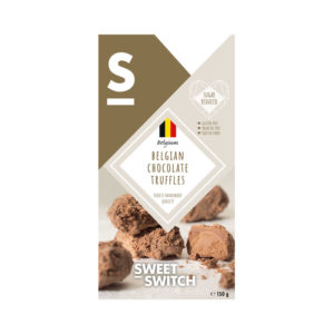 Trufas Doces Artesanais Belgas Low Sugar Sweet Switch 150g