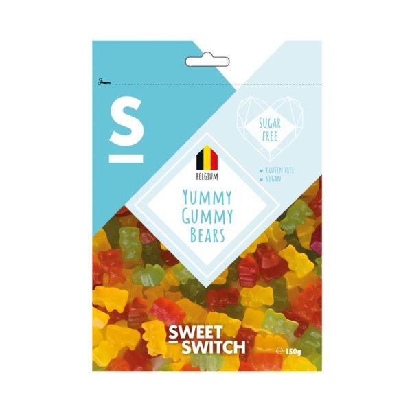 Gomas Yummy Gummy Bear Sugar Free Sweet Switch 150g