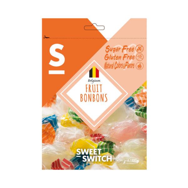 Bombons de Fruta Sugar Free Sweet Switch 100g