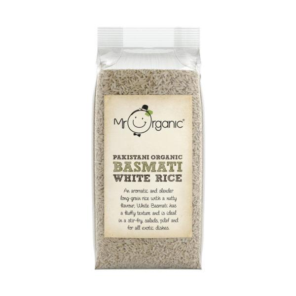 Mr Organic Organic Basmati White Rice 500g