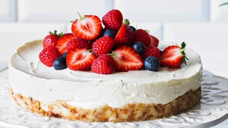 Cheesecake fácil, com Coco e Limão