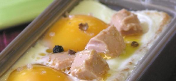 Caçarola de ovos com Foie Gras