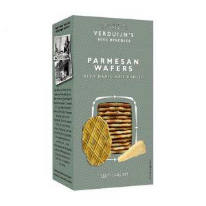Wafers Parmesão com Manjericão Alho VERDUIJNS 75g