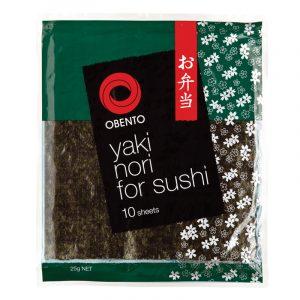 Alga Marinha Nori para Sushi (10 folhas) Obento 25g