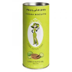 """Biscoitos de Lima """"Lime After Time"""" em Tubo Paul & Pippa 130g"""
