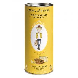 """Biscoitos de Queijo Parmesão """"Cheese Me"""" em Tubo Paul & Pippa 130g"""