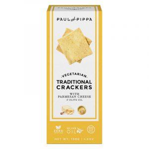 Crackers Tradicionais de Parmesão Paul & Pippa 130g