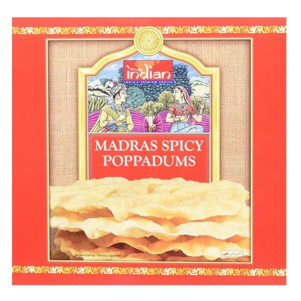 Poppadums de Madras Picantes Truly Indian 112g